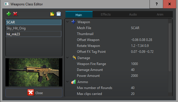 0977 weapons editor