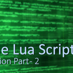 Artists Guide to Lua Part-2